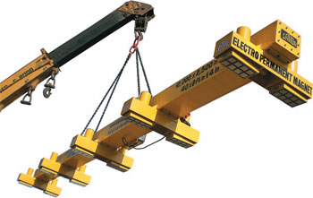 Electro Permanent Plate Handling system for handling plate up to 12 x 3 meter having weight up to 10 ton
