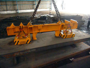 EPM Lifter for Slab handling up to 10 meter long and up to 25T