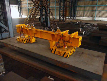 Electro Permanent Magnet Lifter for Slab handling up to 10 meter long and up to 20T