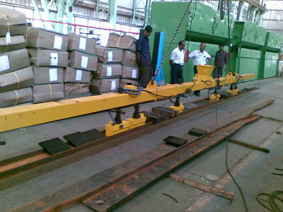 special assembly of EPM lifter supplied for handling of long member upto 12500 mm long